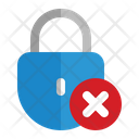 Close Lock Security Notice Icon