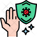 Protection Hand Shield Icon