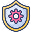 Protection Shield Gear Security Icon