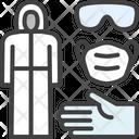Protection Hazmat Suit Biosecurity Suit Icon