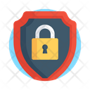 Padlock Security Buckler Shield Safety Shield Icon