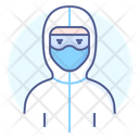 Protective Suit Wear Doctor Icon