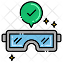Protective Wear Glasses Gloves Icon
