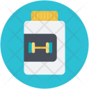 Protein Drug Dumbbell Icon