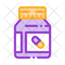 Vitamin Pills Container Icon