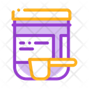 Supplements Bottle Scoop Icon
