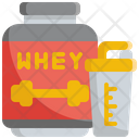 Whey Fitness Gym Icon