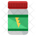 Protein Supplement Energy Icon