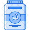 Protein Supplement Muscle Icon