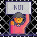 Protester Female Icon