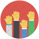 Hand Holding Protest Icon