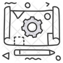 Prototype Blueprint Architecture Icon