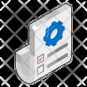 Wireframe Prototype Paper Model Icon