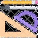 Protractor Triangle Pencil Icon
