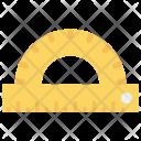 Protractor Measure Design Icon