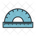 Protractor Ruler Measuring Tool Icon