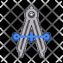 Protractor Compass Measure Icon