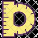 Protractor Geometry Tool Geometry Icon