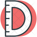 Protractor Degree Tool Icon