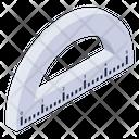 Ruler Scale Protractor Icon