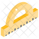 Ruler Protector Scale Protractor Icon