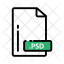 Psd Document Extension Icon