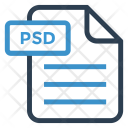 Psd File Sheet Icon