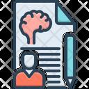 Psychologist Psych Brain Icon