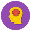 Psychology Brain Head Icon