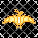 Pterodactyl Dinosaur Color Icon