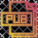 Pub File File Type Icon