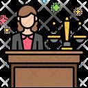 Public Defender Female Icon