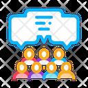 Public Opinion Collaboration Icon