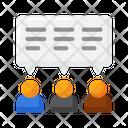 Public Opinion Public Discussion Public Views Icon