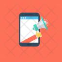Mobile Advertising Marketing Icon