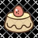 Pudding Cake Cherry Icon