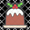 Christmas Pudding Dessert Icon