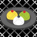 Pudding Mousse Coagulated Dish Icon