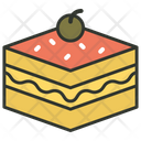 Dessert Cake Piece Sweet Food Icon