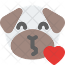 Pug Blowing A Kiss Icon