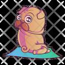 Pug Doing Exercise Icon