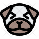 Pug Grinning Squinting Icon