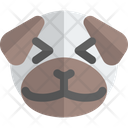 Pug Grinning Squinting Animal Wildlife Icon