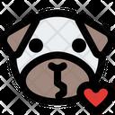 Pug Kiss Icon
