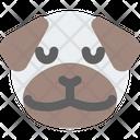 Pug Pensive Icon
