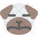 Pug Sad Closed Eyes Icon
