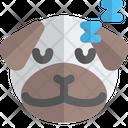 Pug Sleeping Animal Wildlife Icon