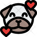 Pug Smiling With Hearts Icon
