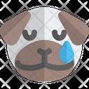 Pug Tear Animal Wildlife Icon