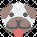 Pug Tongue Icon
